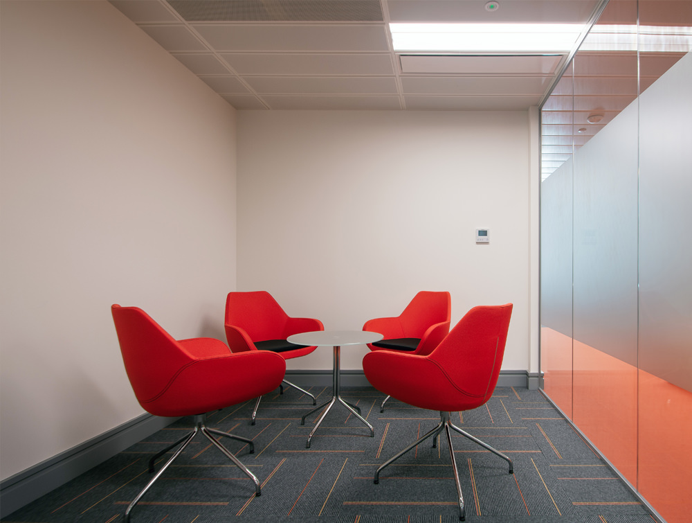 Apex office meeting room red chairs