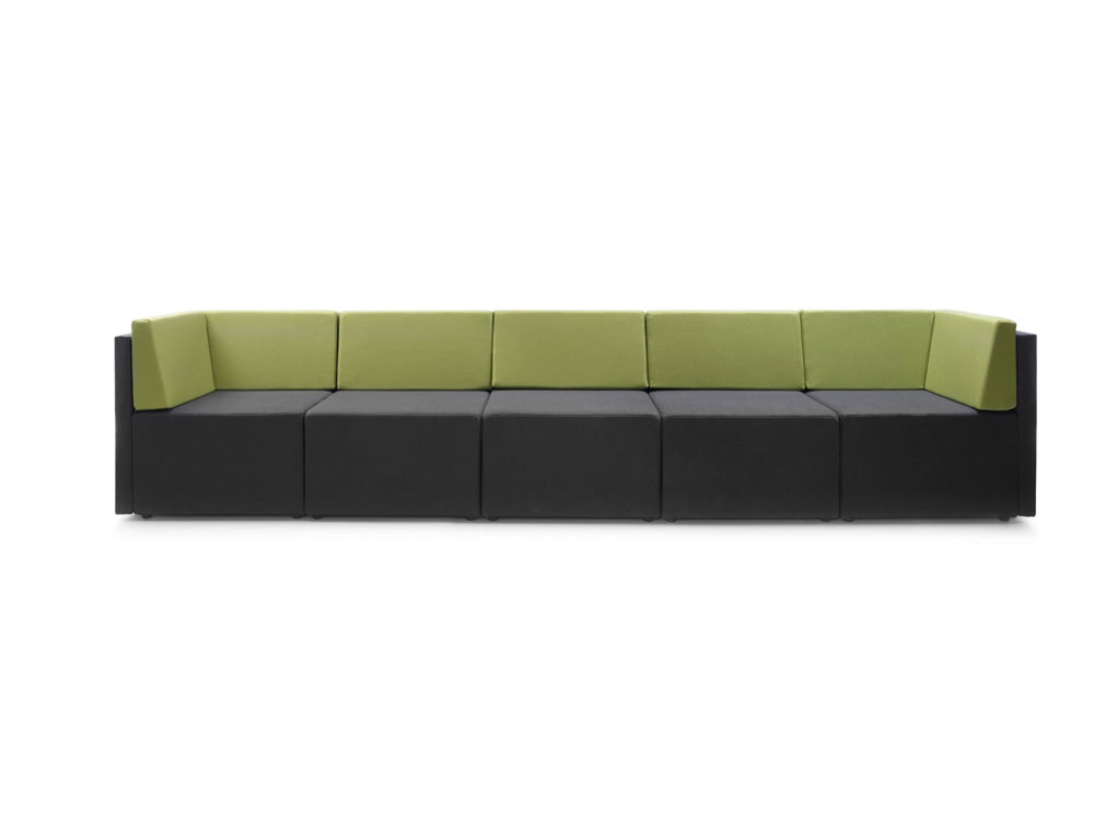 Lounge Large Low Back Sofa With Lime Green Back Rest