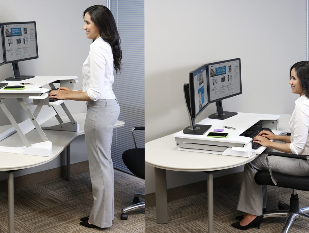 Ergotron Workfit T Sit Stand Desktop Workstation Radius