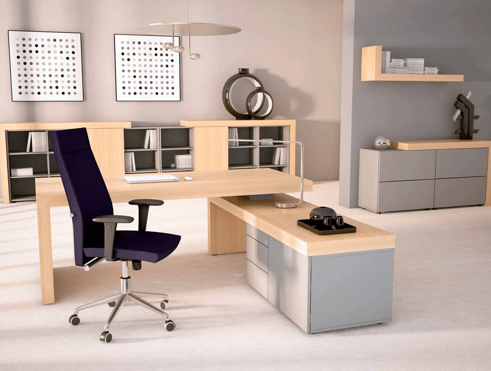 Office Furniture: Auttica Executive Desk With Return