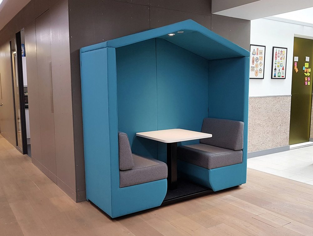 Bea Roofed 2 Seat Meeting Den With Wall