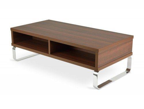 CU10 Cuban Box Coffee Table with Chrome Loop Legs