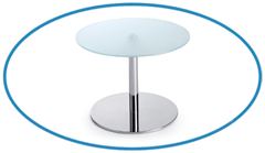 Canteen Tempered Glass Table