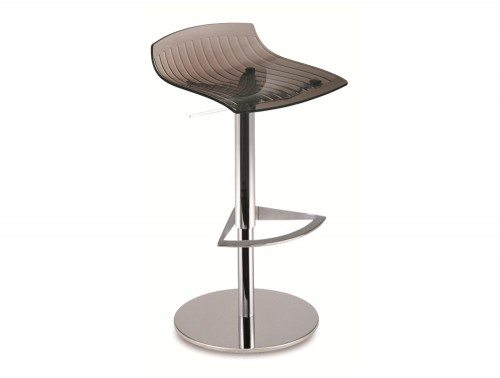 City Translucent Height Adjustable Stool in Grey