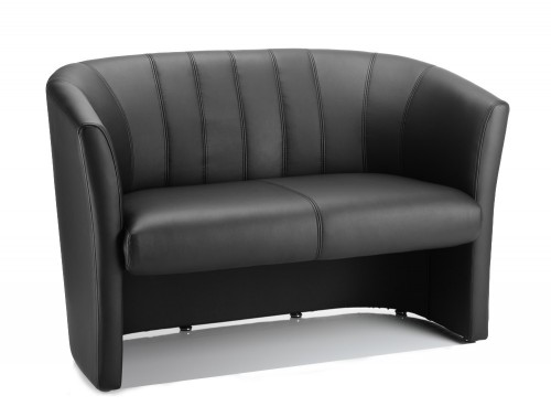 Dynamic neo reception twin tub chair in black leather