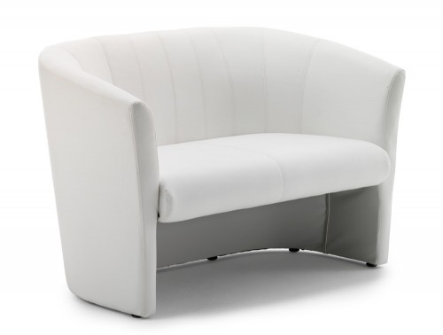 Dynamic neo reception twin tub chair in white leather