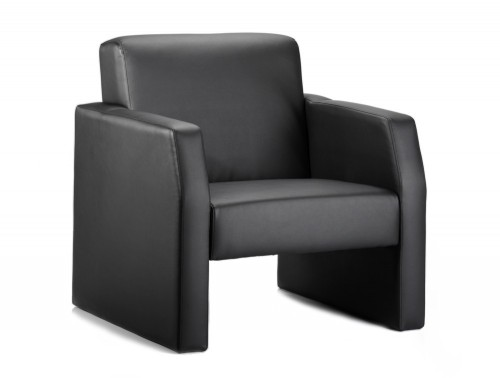 Dynamic oracle armchair in black leather