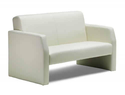 Dynamic oracle sofa in ivory leather