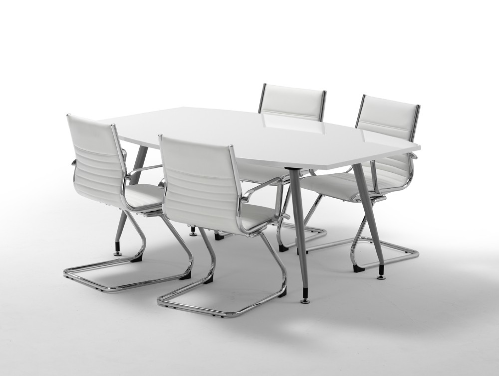 Dynamo Boardroom Table In High Gloss 4 To 6 Seater In Black