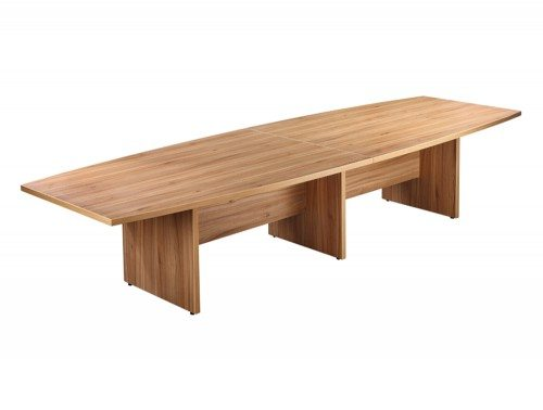Elite Boardroom Table with Modesty Panel in Walnut 3600mm