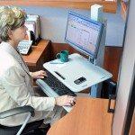 Ergotron WorkFit C Single LD Sit Stand Workstation After