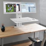 Ergotron WorkFit-SR Dual Monitor Sit Stand Workstation in an Office
