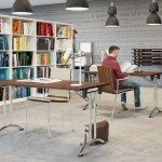 Folding Leg Tables in Walnut for Studying