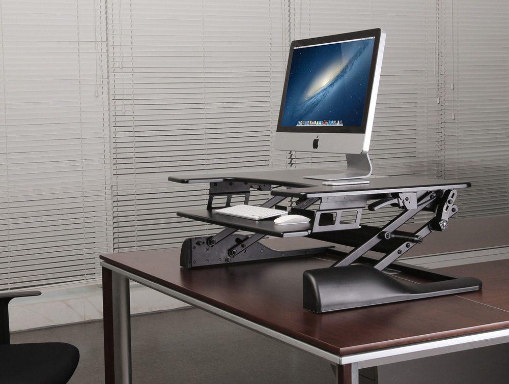 Freedom Desk Height Adjule Work Surface In Black