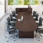 Kito Boardroom Table In Walnut With Leather Chairs
