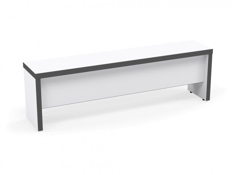 Kito Canteen Bench System Sitting Bench WH-GR-1475 White/Graphite in 1475 x 300 x 450 mm