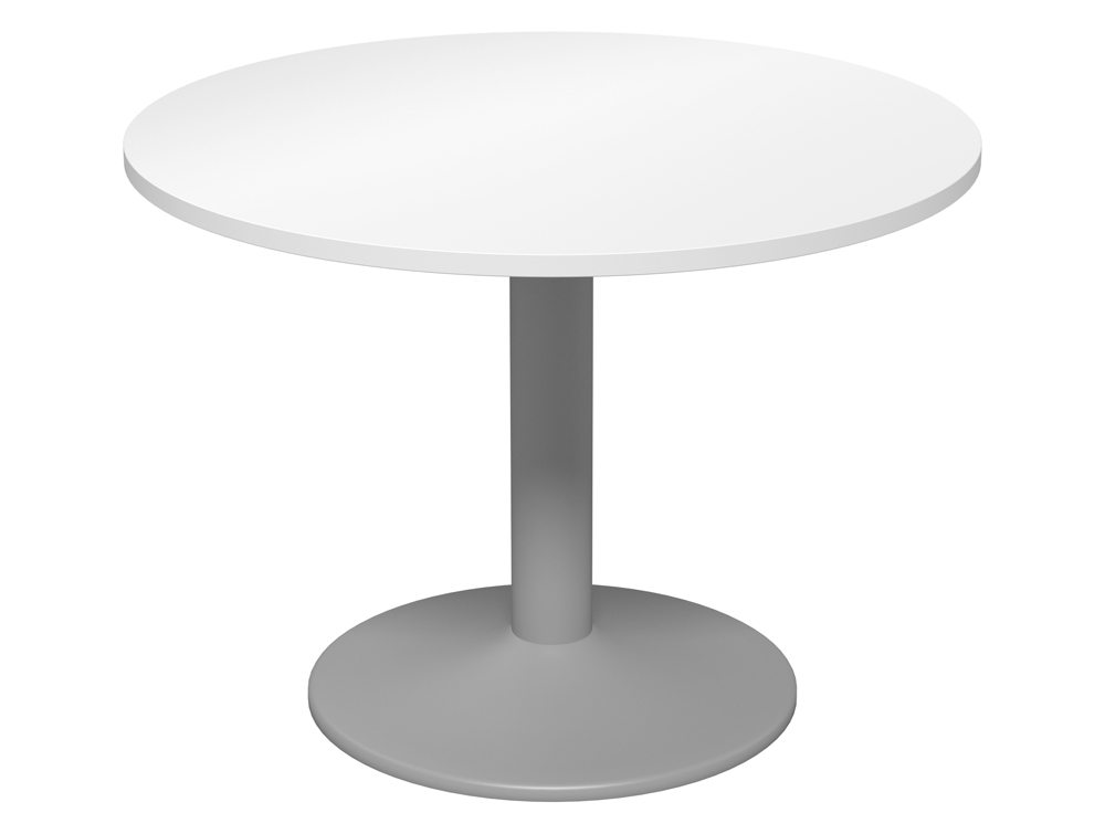 Kito Round Meeting Table With Trumpet Leg In White