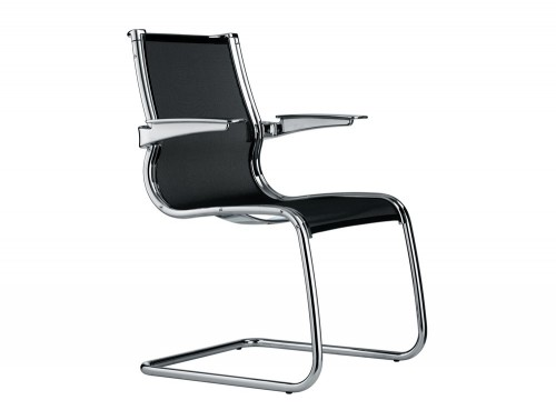 Corvus cantilever swivel armchair in low back