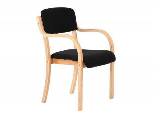 Madrid Visitor Chair Black With Arms Featured Image