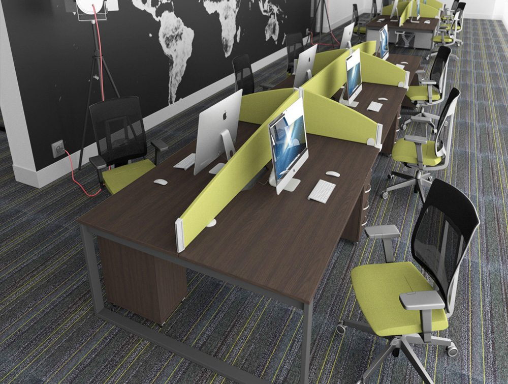 white walnut office furniture. Mesh Office Chairs With Green Upholstery And Matching Desk Screens On Dark Walnut Table Tops Desks White Furniture E