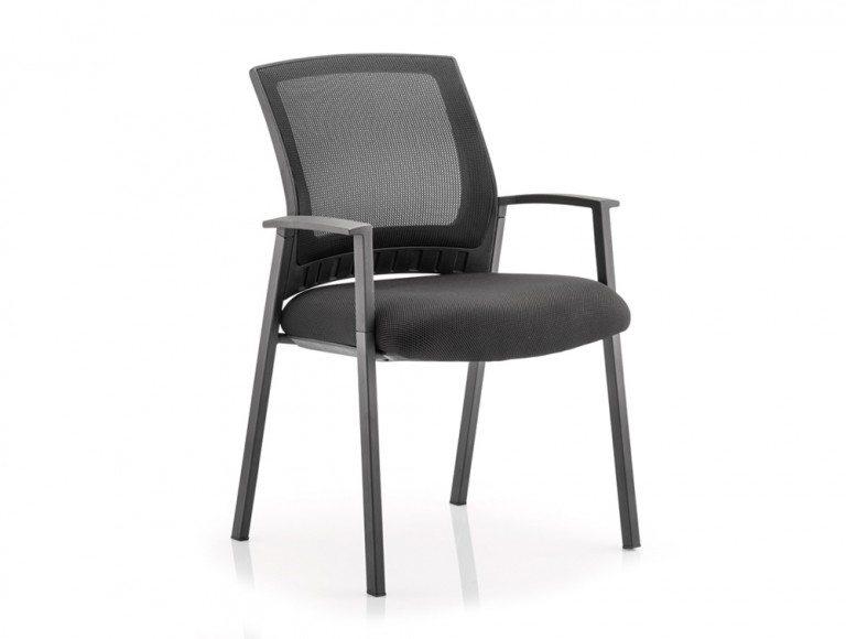 Meeting Room Reception Chair Black Fabric