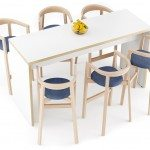Modern Canteen Hightop Table with Chairs