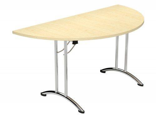 Folding Leg Morph Table In U Configuration Fold Semi Circle MP Maple