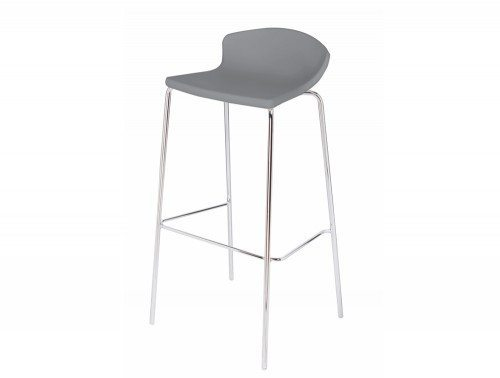 Easy high canteen chair in grey