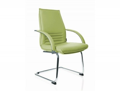 Kleiber Integra Boardroom Chair in Full Leather front angle