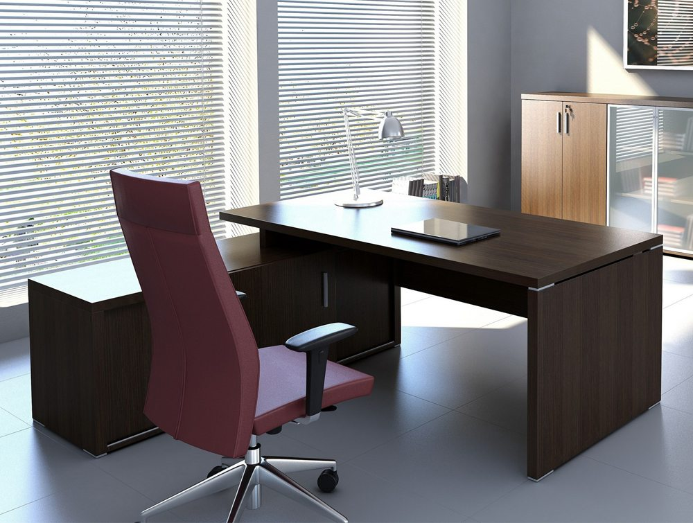 Quando Executive Desk With Credenza Return