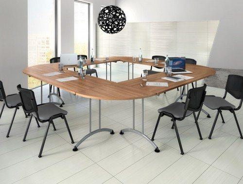 Buronomic rectangular folding table with 90 links