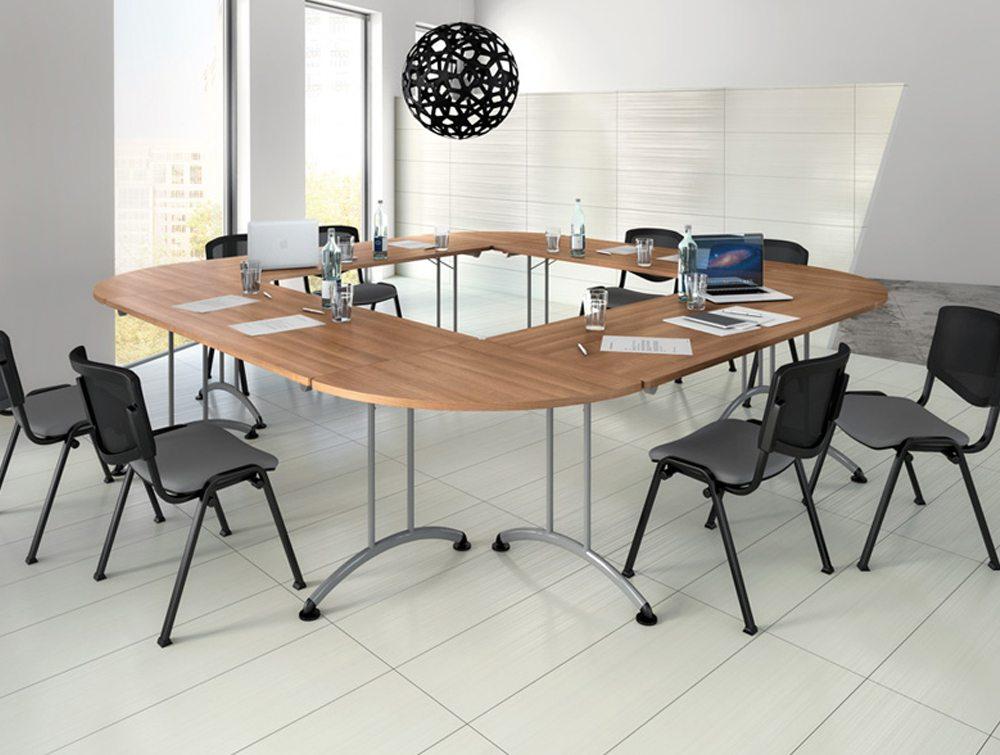 Buronomic Rectangular Folding Table With 90 Degrees Links