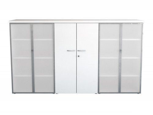 Buronomic Bookcases with Glass Doors and Nitech Top