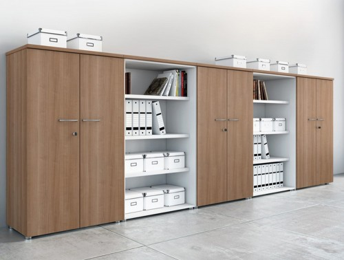 Buronomic 3 storage with doors and bookshelves