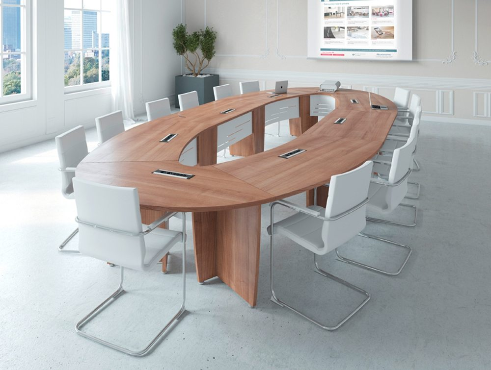 Buronomic Success Meeting Room Elliptical Table In Cedar - Elliptical conference table