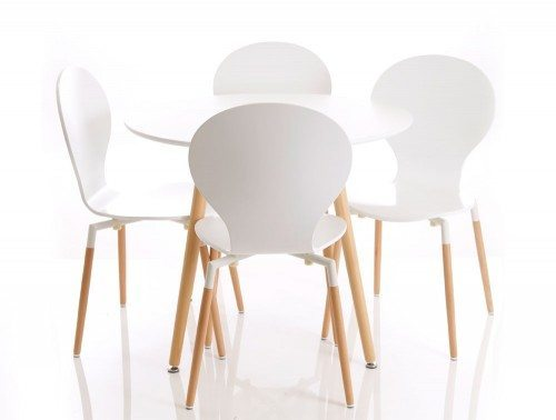 Parisian Table and 4 Chair Set for Canteen