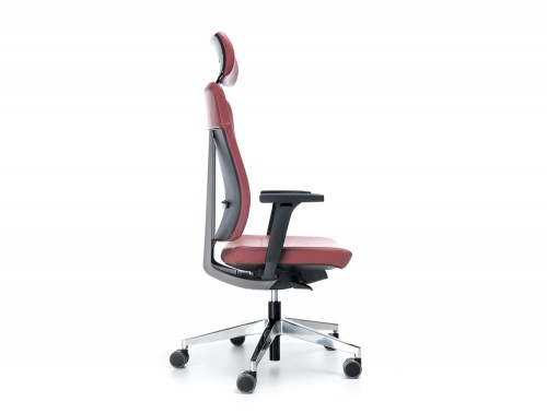 Profim xenon pink leather with headrest side angle