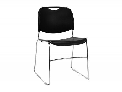 RM300BK Reach Stackable Sled Chair in Black
