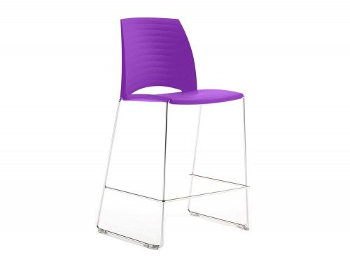 S1HSP Sand Sled Stackable Conference Stool in Purple