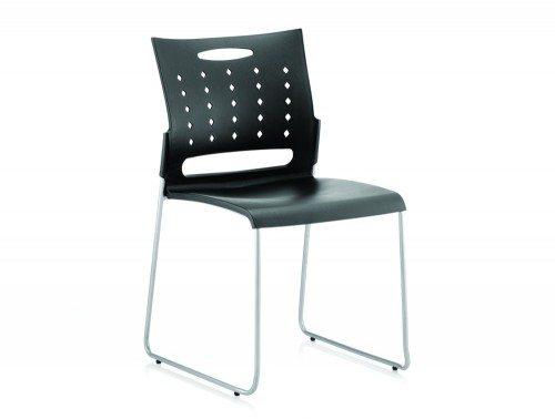 Slide Visitor Chair Black Polypropylene Featured Image
