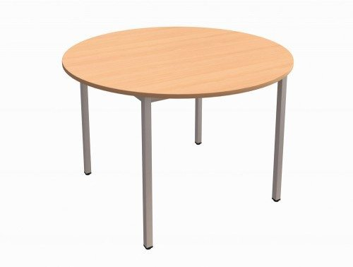 ... Trexus Circular Table With Silver Legs In Beech