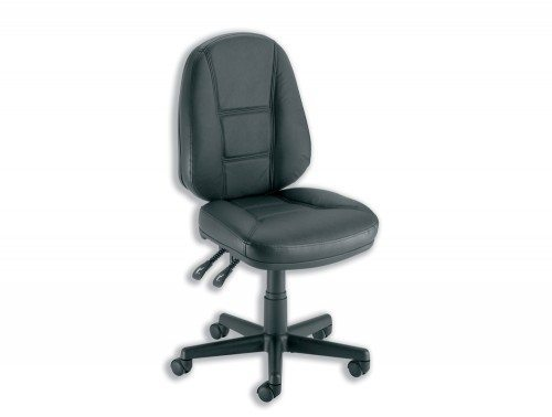 Trexus Intro Operators Chair PCB High Back in Black Leather
