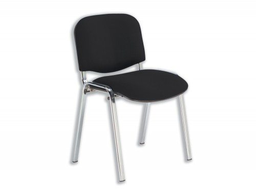 Trexus Stacking Chair Chrome Frame with Upholstered Seat