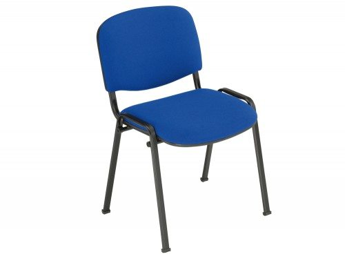 Trexus Stacking Chair Upholstered with Shaped Seat in Blue