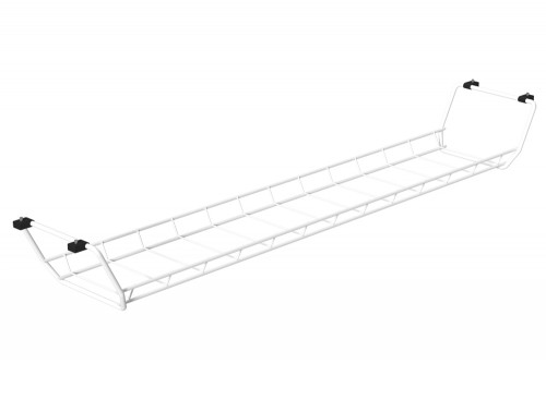 Universal Cable Basket 800mm (Tops 1200 - 1400mm Wide) White