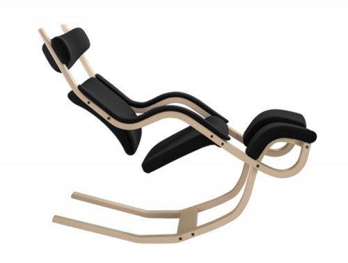 Varier Gravity Balans Zero Gravity Chair in Natural lacquered Ash Side Angle