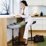 Varier Move Sit-Stand Stool with user