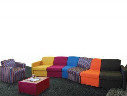 Wave Modular Reception Seating Right Corner Unit