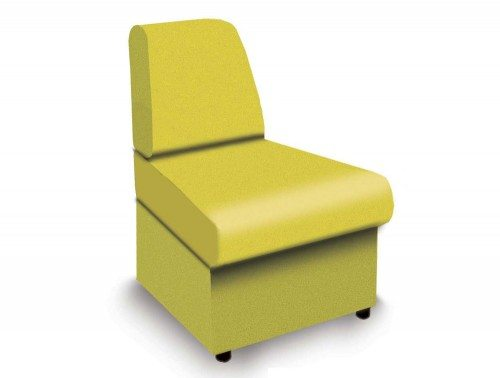 Wave Modular Reception Seating Concave Unit in Yellow