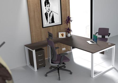 Radial Executive Desk in Walnut